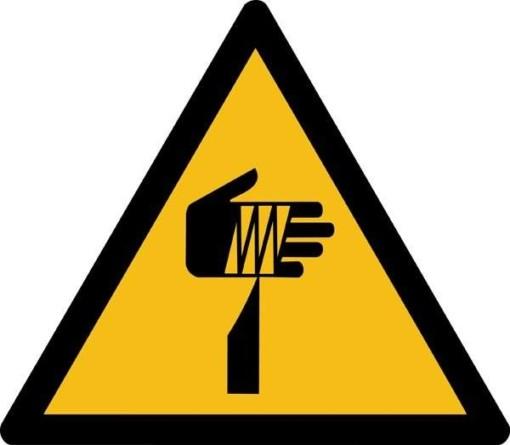 Skarpe elementer ISO_7010_W022. Advarselsskilt