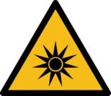 Optisk stråling ISO_7010_W027. Advarselsskilt