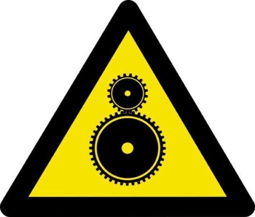 Advarselsskilt - Kørende maskine fare
