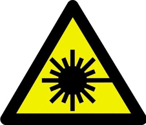 Advarselsskilt - Laserstrålefare