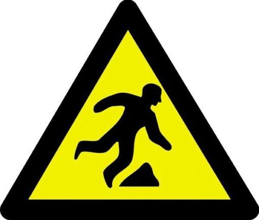 Advarselsskilt - Snublefare