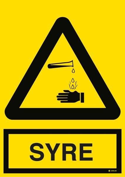 Advarselsskilt Syre