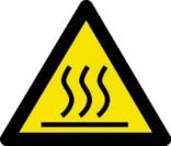 Advarselsskilt - Varm flade fare