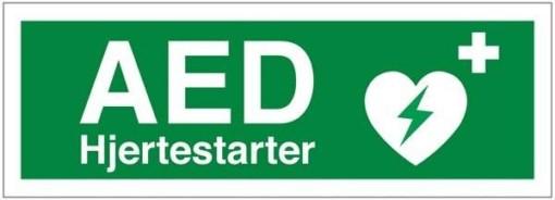 AED hjertestarter Redningsskilte.