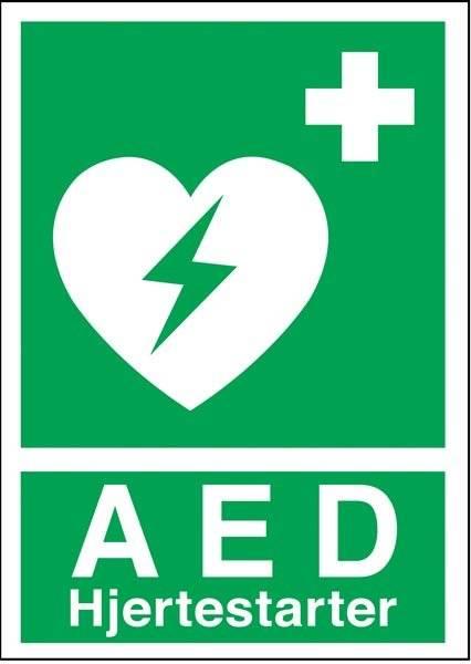 AED Hjertestarter Redningsskilte