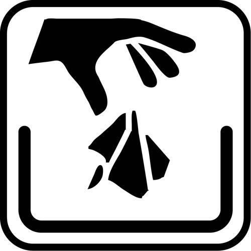 affald - piktogram skilt