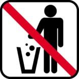 Affald forbudt - piktogram skilt