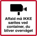 Affald må IKKE sættes ved container