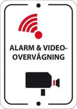 Alarm og Videoovervågningsskilt
