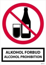 Alkohol forbudsskilt alcohol Prohibition.