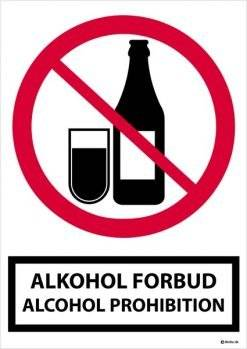 Alkohol forbudsskilt alcohol Prohibition.