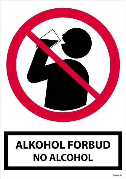 Alkohol forbudt No Alcohol skilt