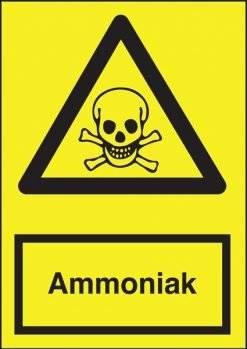 Advarselsskilt - Ammoniak