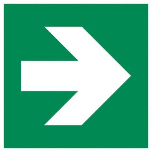 Arrow1 ISO 7010 Safe condition. Redningsskilt
