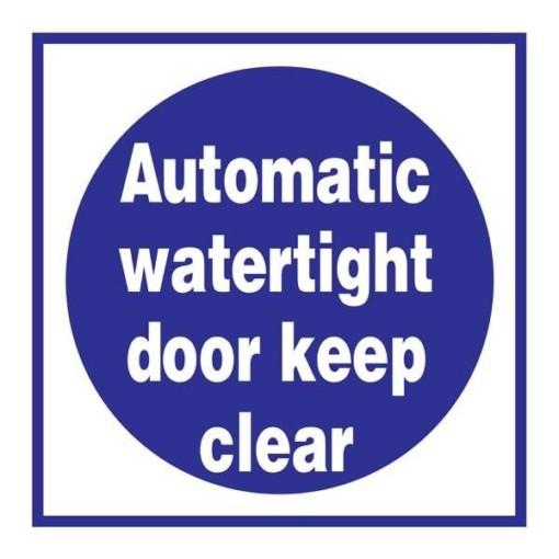 Automatic Watertight Door Påbudsskilt