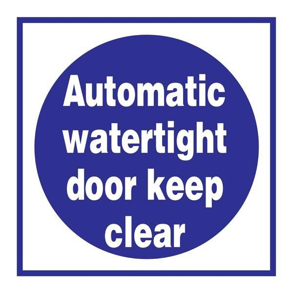 Automatic Watertight Door Påbudsskilt
