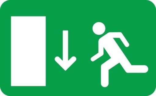 Exit Skilt - Ned