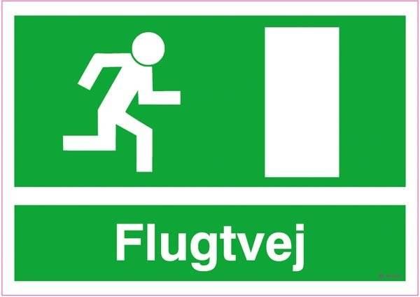 Flugtvej mod højre Skilt