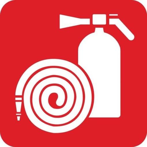 Brandslange og brandslukker Redningsskilt