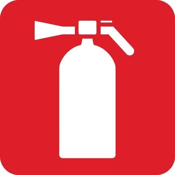 Brandslukker Redningsskilt