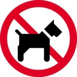 Hund forbudt. Forbudsskilt