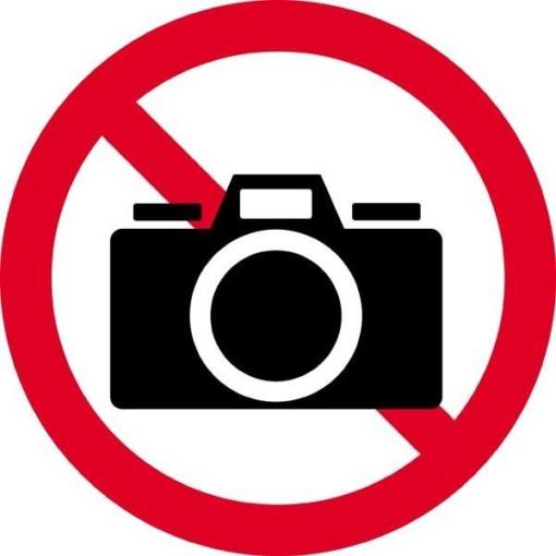 Kamera forbudt. Forbudsskilt