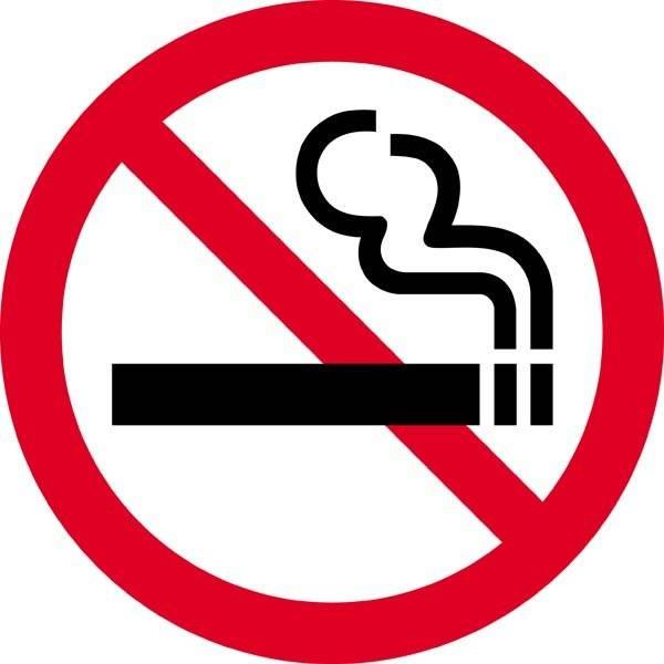 Rygning forbudt. Forbudsskilt