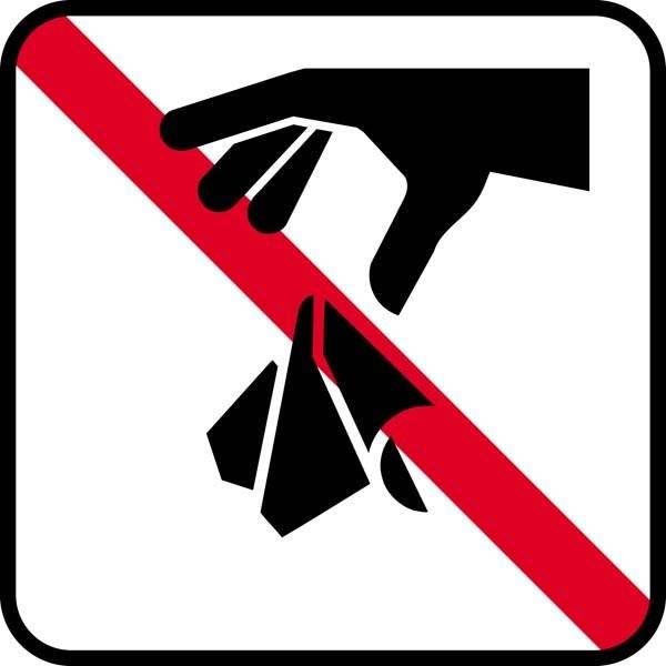 Affald forbudt. Piktogram skilt