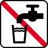 Ikke drikkevand. Piktogram skilt
