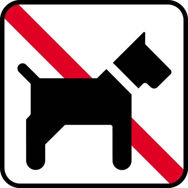 Hund forbud. Piktogram skilt