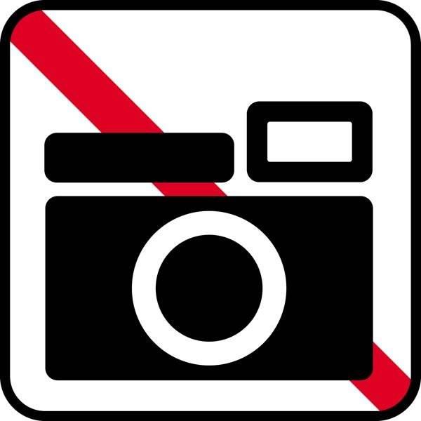 Foto forbud. Piktogram skilt