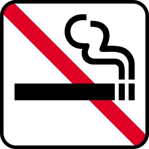 Ryge forbud. Piktogram skilt