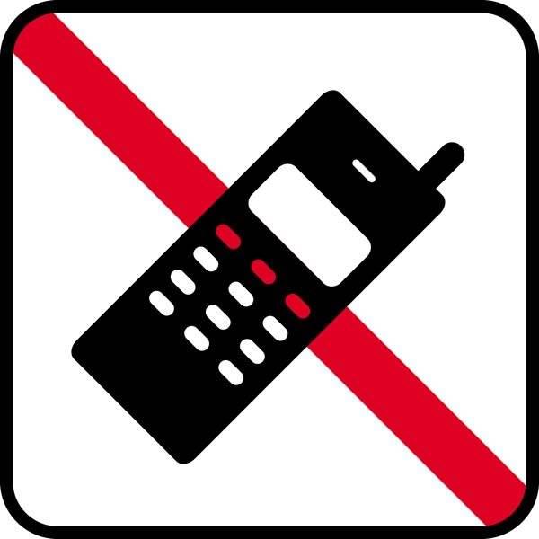 Mobil forbud. Piktogram skilt