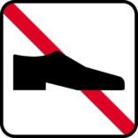 Sko forbud. Piktogram skilt