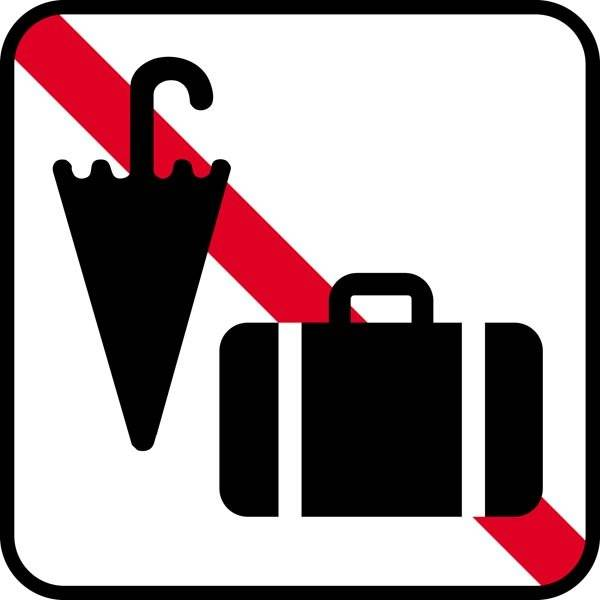 Bagage forbud. Piktogram skilt