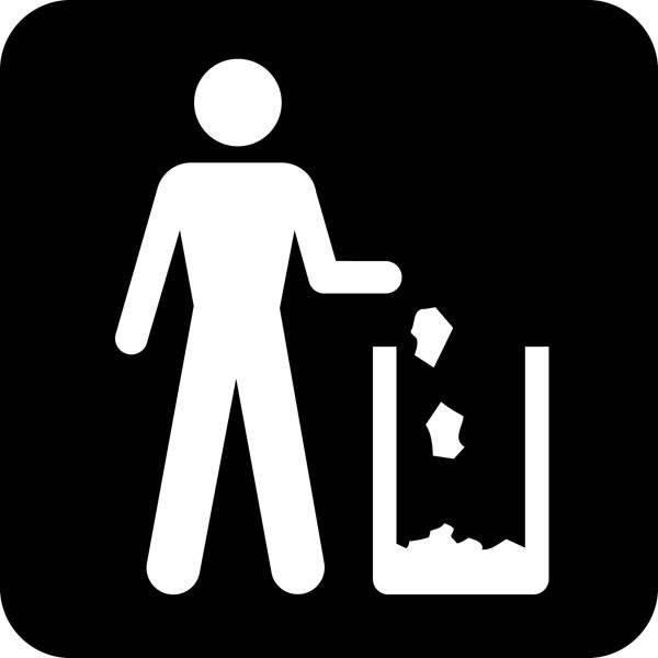 Affaldsbøtte Piktogram skilt