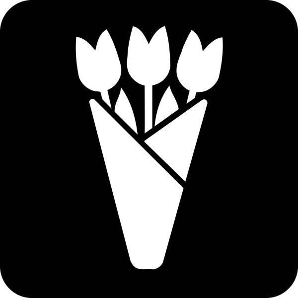 Blomster Piktogram skilt