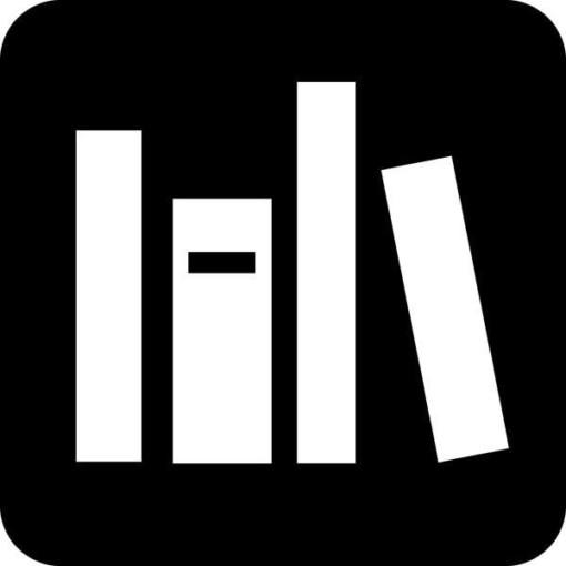 Bibliotek Piktogram skilt