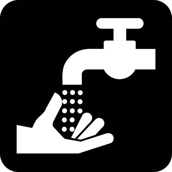 Håndvask Piktogram skilt
