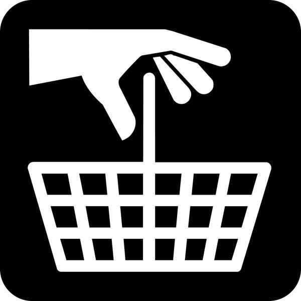 Indkøbskurv Piktogram skilt