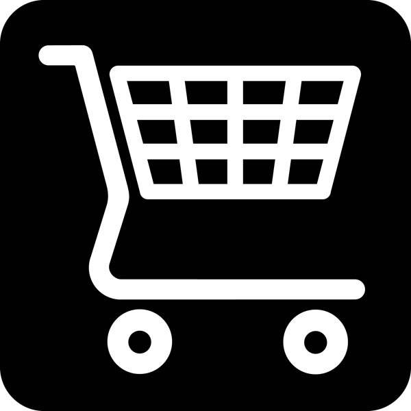 Indkøbsvogn Piktogram skilt