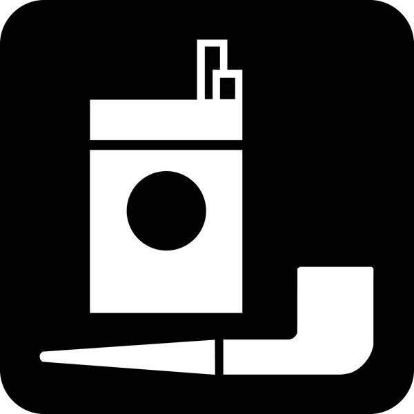 Tobak Piktogram skilt