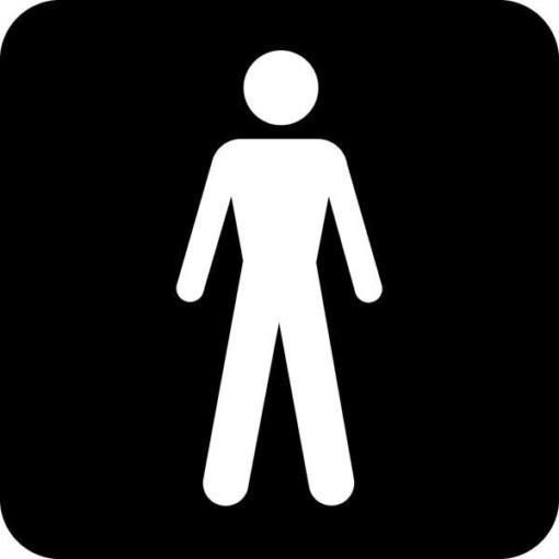 Mænd Piktogram skilt