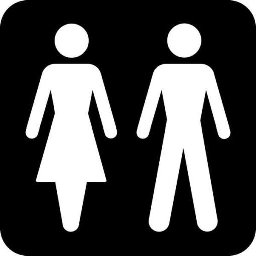 Dame mand Piktogram skilt