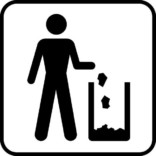 Affaldsbøtte. Piktogram skilt