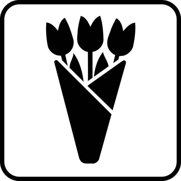 Blomster. Piktogram skilt