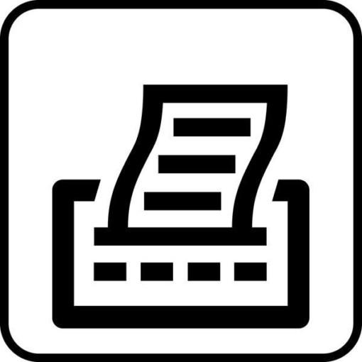 Printer. Piktogram skilt