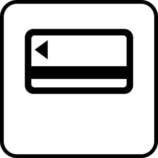 Betalingskort - Piktogram skilt