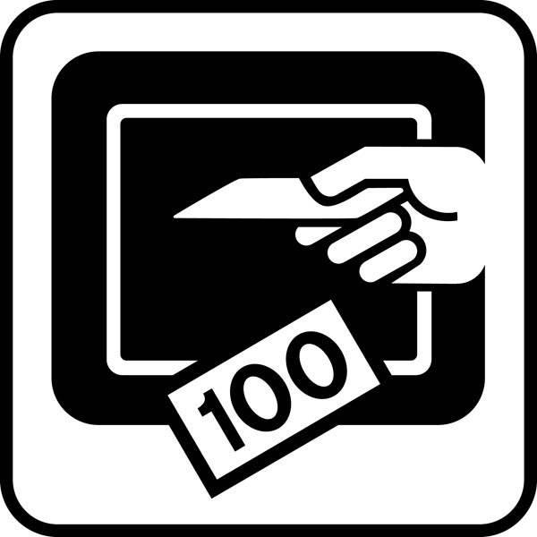 Betalingsautomat - Piktogram skilt