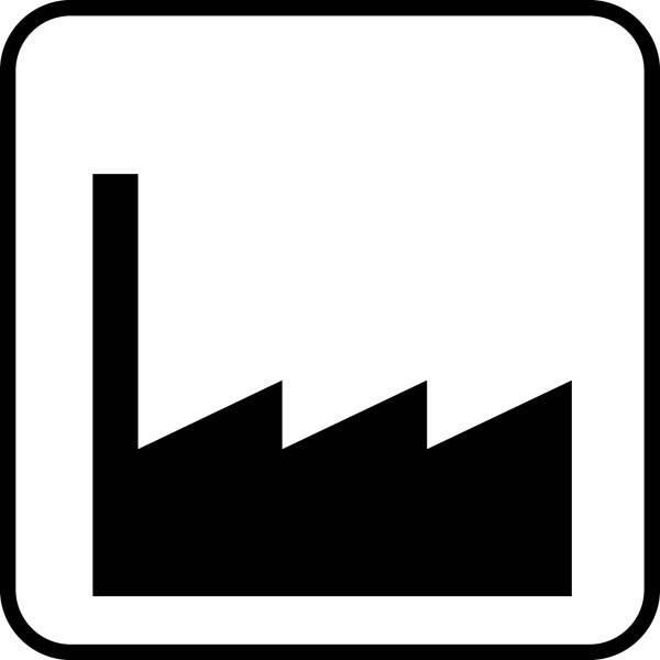 Industri. Piktogram skilt